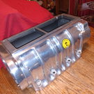 1071 Littlefield blower polished aluminum with front and bac