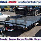 Lamar 20' Steel Deck Car Hauler 7x20 w/ 5' Ramps & D-rin