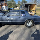 "84 Monte Carlo Drag car.  28"" gooseneck race trailer."