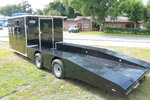 28 ft Wedge Front Hybrid Trailer