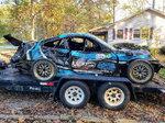 Wrecked GTS-4 Porsche GT3