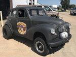 1950 Austin Gasser and street car