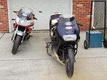 pair of drag bikes