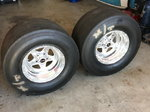 Weld wheels 15 x 12 with MT 29.5 x 13.5-15 slicks set