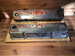 Vintage aluminum Micky Thompson Chevrolet valve covers