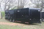 New 2018 34' BP Blacked Out Cont. Cargo Car Trailer w/Bath P