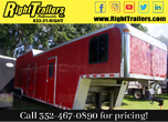 2000 8.5x44 INDIANA RACE TRAILER w LIVING QUATERS