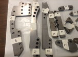 Miscellaneous laser cut chassis brackets  for sale $70