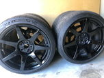Carbon Fiber Ford Mustang GT350R 19x11/11.5 Wheels and Tires  for sale $6,000