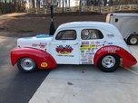 1940 WILLYS STEEL 2 DOOR SEDAN BEEN RACE CAR FOR 30 YEARS  for sale $59,500