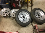 Set of Monocoque Drag Racing Wheels  for sale $600