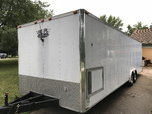 28ft 2000 Vintage Bandit enclosed race car hauler trailer  for sale $8,500