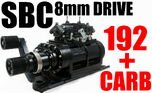SMALL BLOCK CHEVY BLOWER SHOP SUPERCHARGER 192 8MM BLACK HAR  for sale $5,529