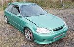'96 Turbocharged EK Honda Civic Hatchback  for sale $10,000