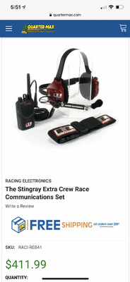 Racing electronics radios and headsets. 4 radios total