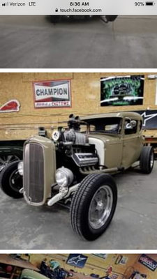 1931 ford with blown Hemi