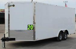 2021 20' V-Nose Chrome Enclosed Bumper Pull Trailer