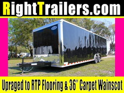 28' Black Continental Race Trailer - Hard Loaded for Sale $14,999