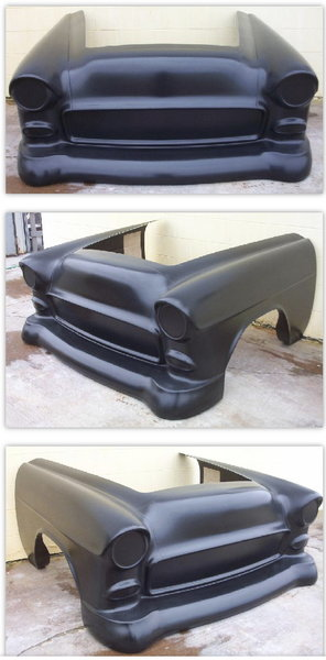 """New Glasstek 1955 Chevy one piece front end and 6""""cowl  for Sale $1,200"""