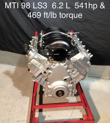 MTI 98 LS3 6.2L  550hp & 454 ft./lb Torque