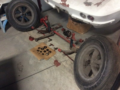 Gasser Front Suspension Halibrand Wheels Corvette 55 Chevy N