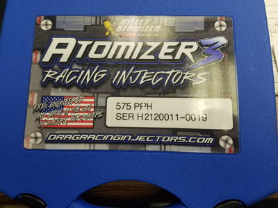 ATOMIZER 3 575PPH INJECTORS