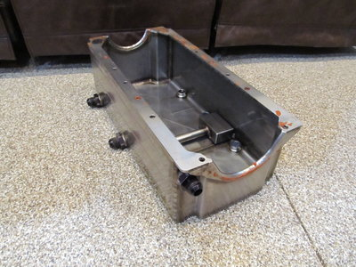 Stainless Steel Dry Sump Oil Pan SBC