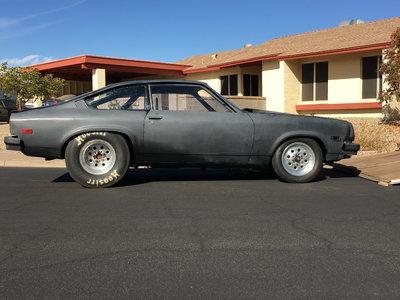 76 Vega Drag Car and Trailer