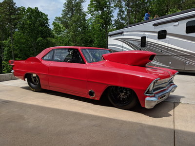 JBRC Chassis with Tim Mcamis full carbon 67 chevy ll body