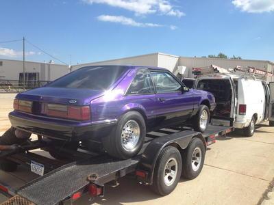 87 mustang hatchback drag roller