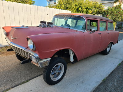 1956 Chevy Gasser Wagon,6-71 Blown 355, 4 speed, Ford 9 inch