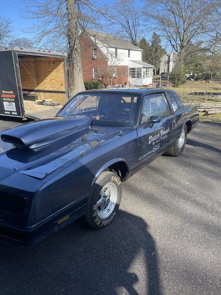 "84 Monte Carlo Drag car.  28"" gooseneck race trailer.   for Sale $20,000"