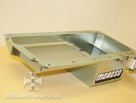 LS Rear Sump Oil Pan Steel Oil Filter Mount Moroso #20145  for Sale $298