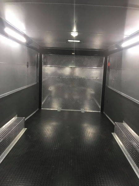 24' RACE TRAILER WITH CABINETS ALL LED BLACK OR WHITE CONTIN  for Sale $14,500