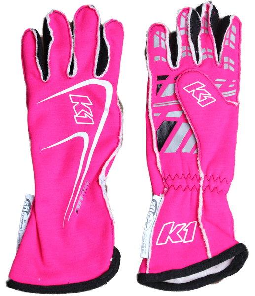K1 Track 1 Race Gloves...Green, Pink, Black, Red or Blue  for Sale $79