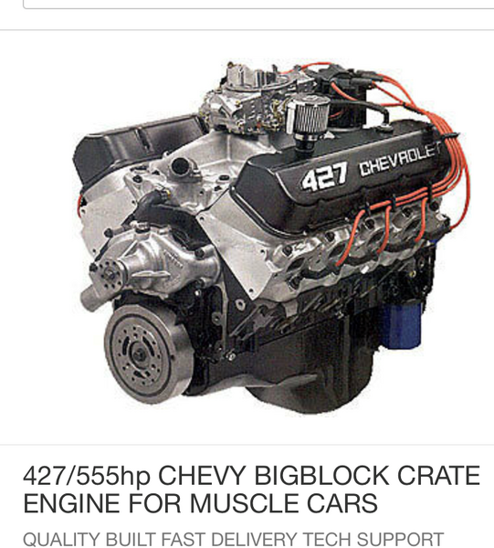 Chevy 427/555hp Big Block  for Sale $6,500