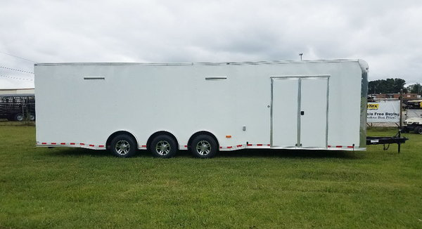 2020 8.5x32 Lark Loaded Race Trailer with Side Cabinets
