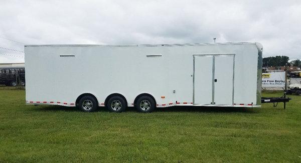 2020 8.5x32 Lark Race Trailer Triple 7K Axles with Side Cabi