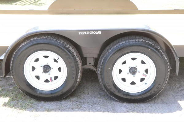 Red Hot 18' Car Trailer 7x18 w/ Slide-in Ramps - Wood Deck