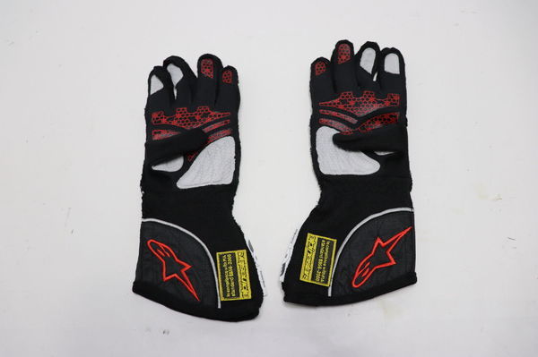 ALPINESTARS GLOVES Tech 1-ZX Nomex Black Silver Red RACE