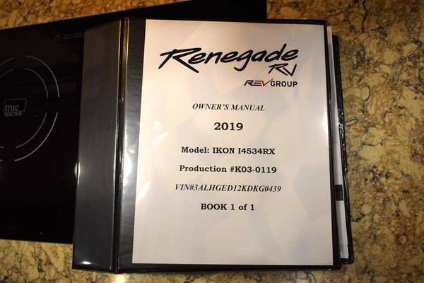 2019 Renegade Ikon 34RX