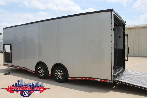 24' Silver Blackout X-Height 12K Race Trailer Wacobill.com