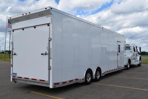USED 2014 ATC 34' ALL ALUMINUM GOOSENECK ENCLOSED TRAILER  for Sale $35,900