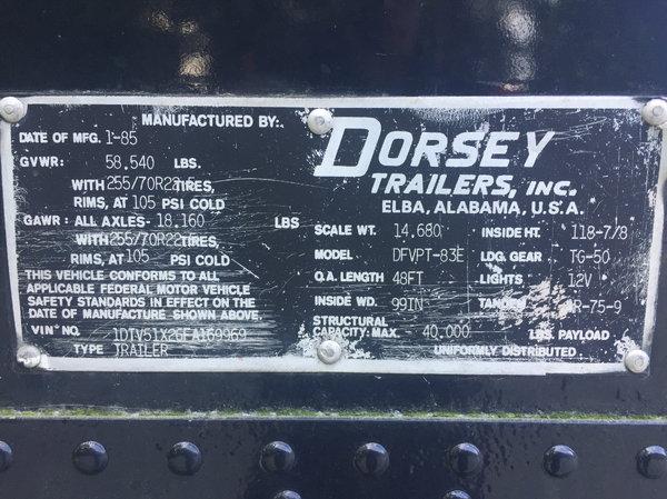 48' Dorsey Car Hauler  for Sale $34,900