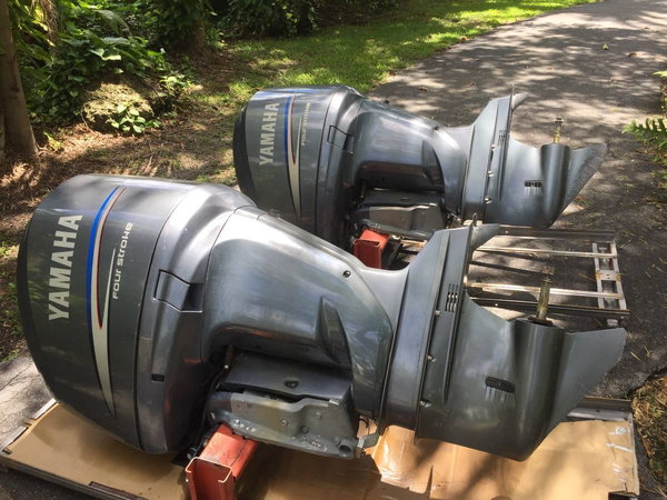 Twin 2006 Yamaha 250 hp counter rotating outboard's  for Sale $12,000