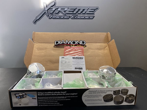 Custom Diamond Pistons for 4.8 Bore Hemi  for Sale $800