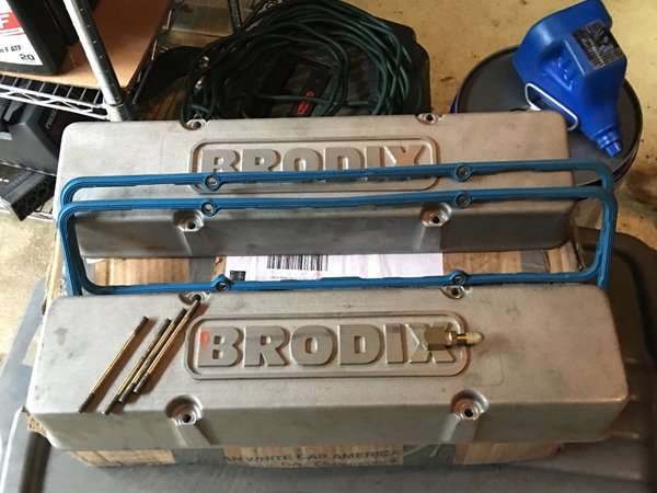 Brodix tall valve covers for SBC  for Sale $115