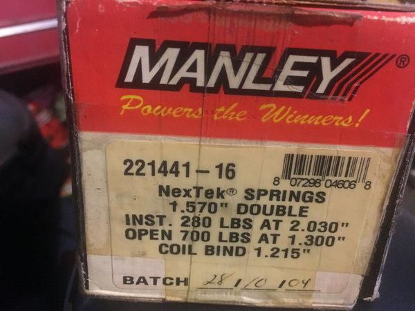 Manley Titanium retainer Valve springs  for Sale $180