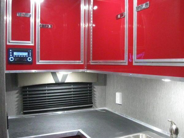 2021 26' Millennium Toy Hauler w/Red Cabinets