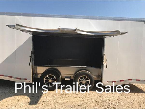 2019 28' ALL ALUMINUM  RACE TRAILER WITH 7 FT ESCAPE DOOR SU  for Sale $28,500